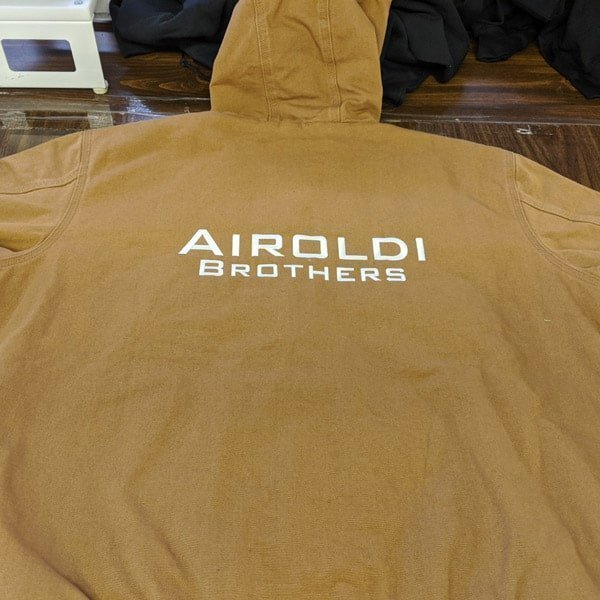Airoldi Brothers coat back embroidery